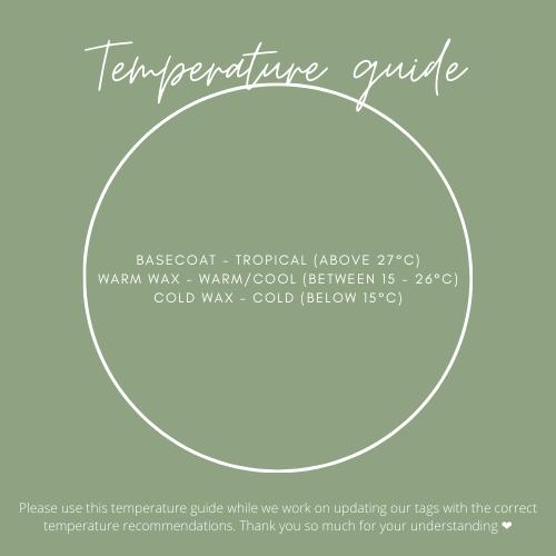 Eco Organic Surf Wax Temperature guide